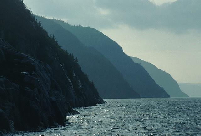 La Rive Ouest du Saguenay, face à Tadoussac by patricestg (pause), via Flickr -Favorite place ever!:)