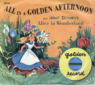 Vintage Disney Alice in Wonderland Little Golden Record