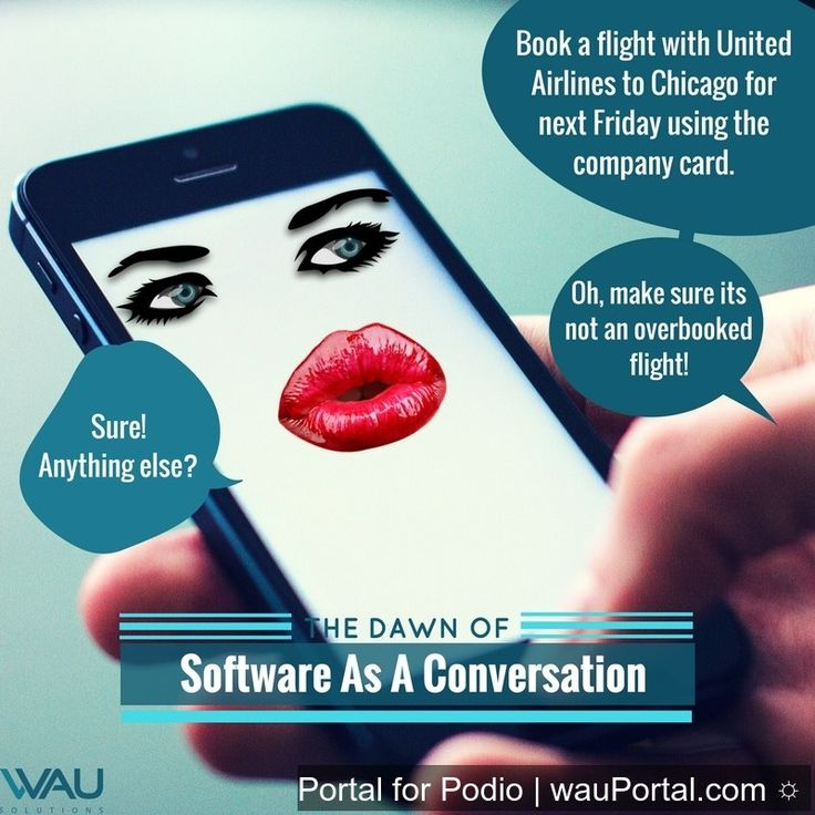 Imagine this scenario coming to life!  With Software as a Conversation, everything would be much easier.  Read more about SaaC from our website: http://bit.ly/2r7uJx9