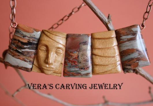 колье из натуральных камней необычные украшения колье резьба по дереву бижутерия…