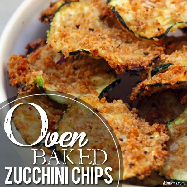 Oven Baked Zucchini Chips have the PERFECT combination of seasonings!  #zucchini #chips #healthysnack #recipe