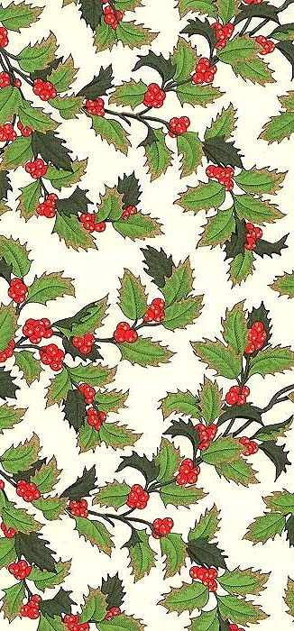 Made in Italy by Rossi ~ Christmas holly berry paper for decoupage, collage, card making and crafts
