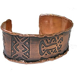 handmade copper bracelet from Chile.  I got this for Mother's Day and it's even better than the pic :)