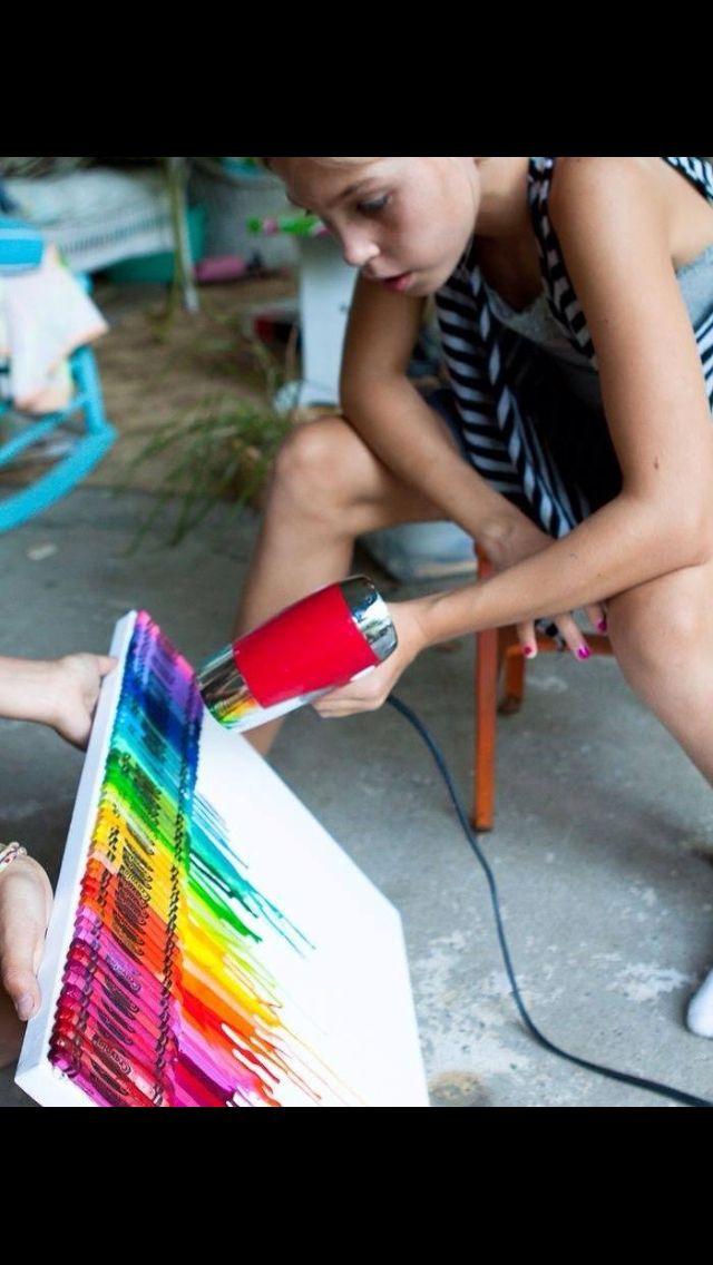 Kleuren schilderij van wasco maken