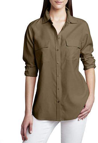 e52cdbe7c598dc Go Silk Safari Long-Sleeve Silk Shirt, Plus Size | Products | Shirts ...