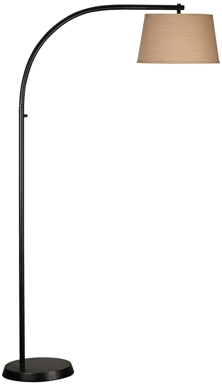 $208 Kenroy Sweep Oil-Rubbed Bronze Finish Arc Floor Lamp | LampsPlus.com (for family room in corner by chaise)