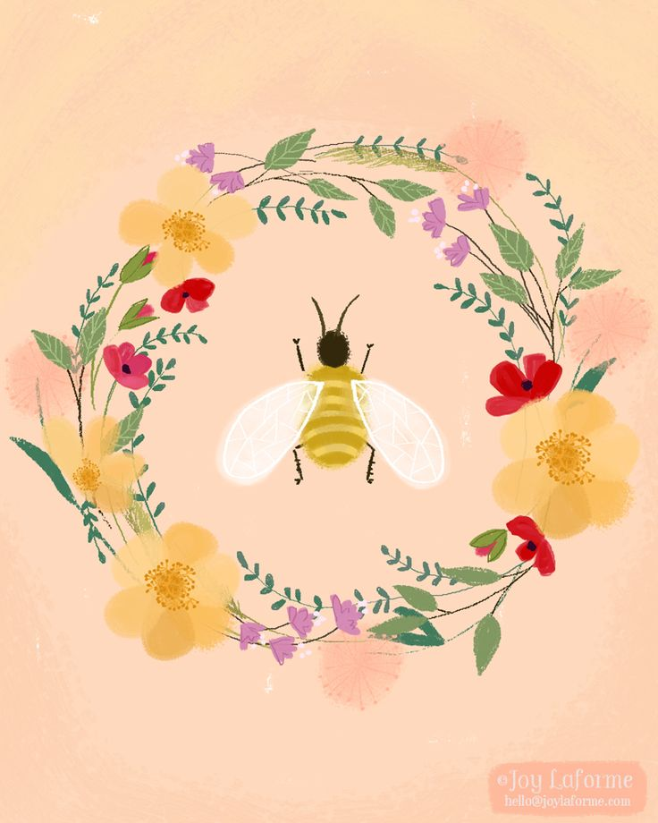 Best 25 bee illustration ideas on pinterest honey bee drawing bee and flowers ccuart Images