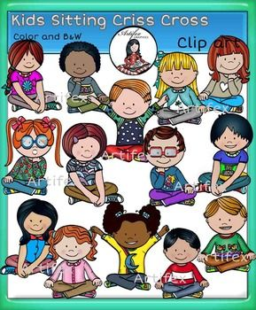 Kids sitting criss cross clip art set features 28 items: 14 clip arts in color. 14 clip arts in black & white.All images are 300dpi, Png files.This clipart license allows for personal, educational, and commercial small business use. If using commercially, or in a freebie, credit to my store by a link is required and appreciated.