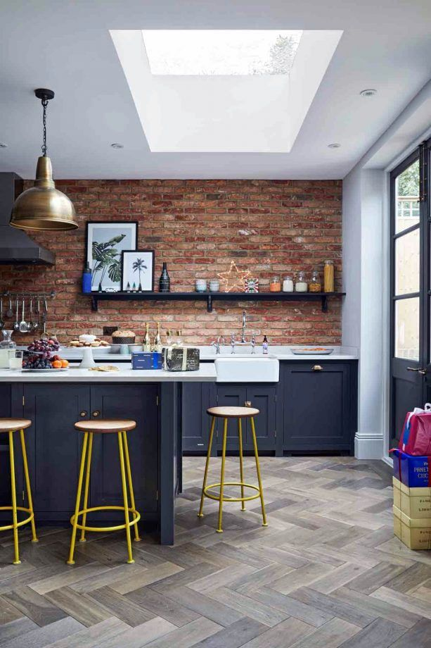The Ultimate Guide To Kitchen Flooring Ideas And Materials Industrial Kitchen Design Industrial Decor Kitchen Kitchen Cabinets And Cupboards
