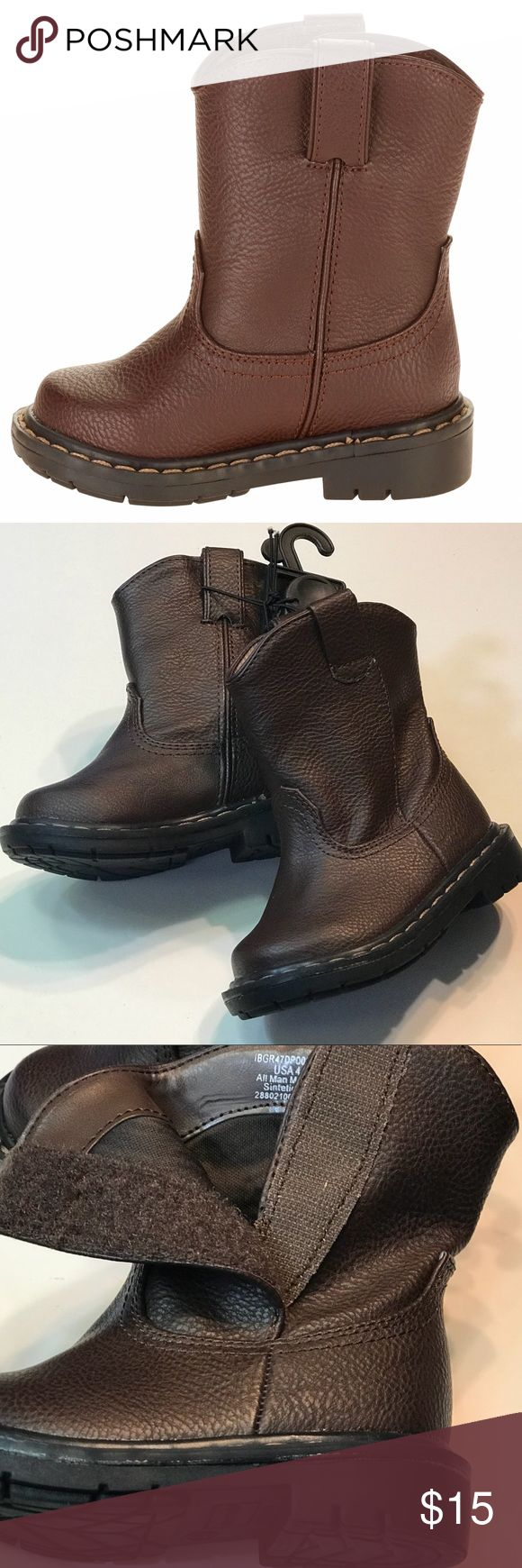 Dark Brown Pull-on Children Boots Pre-walk Boots Cute brown boots baby and big kids! Brand new! No box Faded Glory Shoes Boots