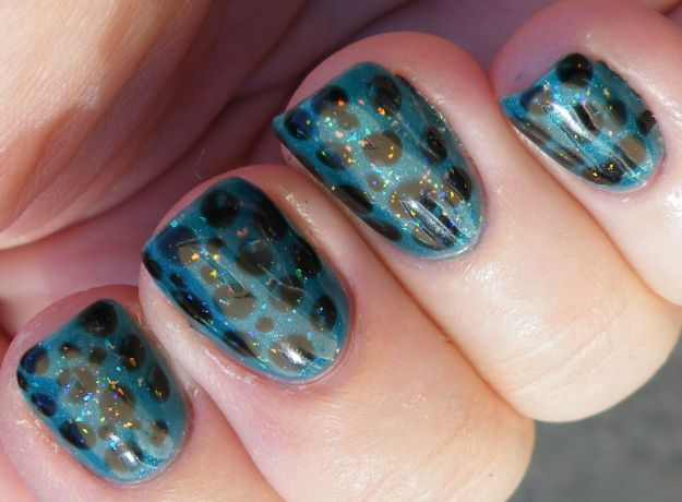 Маникюр шеллак в леопардовом стиле ::: onelady.ru ::: #nail #nails #nailart #manicure