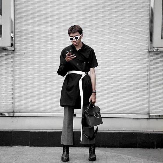 Get this look: http://lb.nu/look/8884199  More looks by Kiko Kim: http://lb.nu/xrzkix  Items in this look:  Calvin Klein Coat, Stradivarius White Belt, Uniqlo Trousers   #chic #edgy #elegant