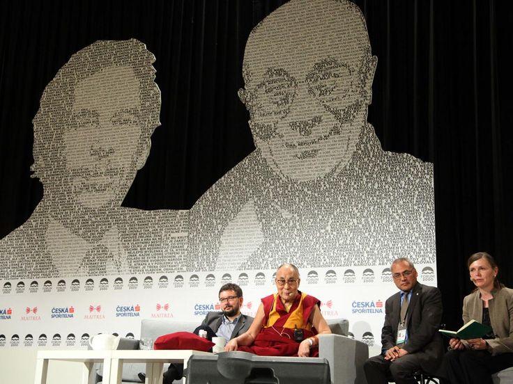 FORUM 2000 - Dalai Lama with Václav Havel Graphic design