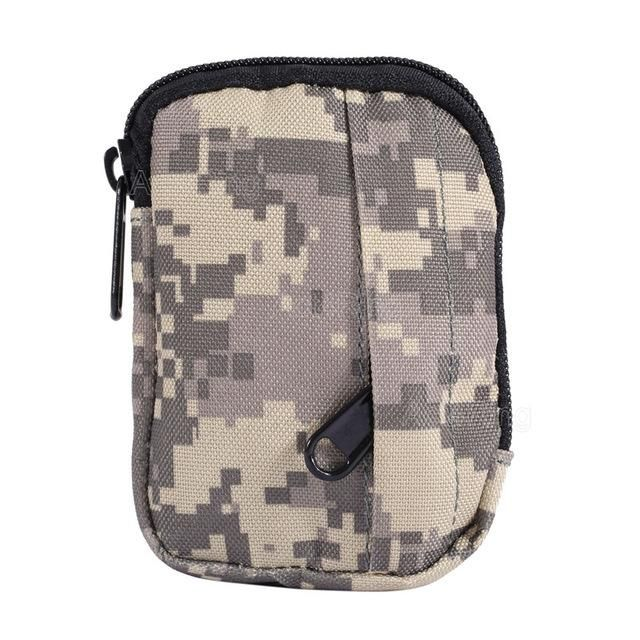 HUNTING EDC PACK MILITARY FUNCTIONAL CAMO BAG MOLLE POUCH SMALL PRACTICAL COIN PURSE MILITARY TACTICAL BAG CAMPING HIKING POUCH