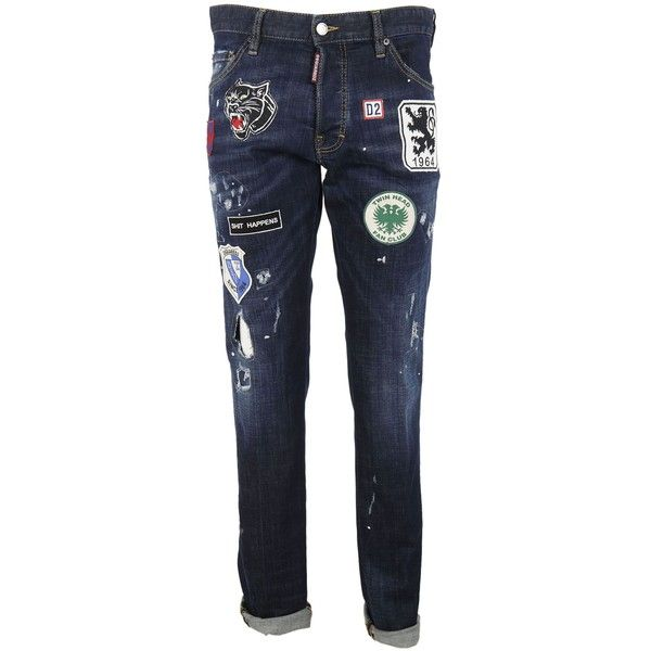 Patch Jeans ($523) ❤ liked on Polyvore featuring men's fashion, men's clothing, men's jeans, mens destroyed jeans, mens blue ripped jeans, mens distressed jeans, mens ripped jeans and mens patched jeans