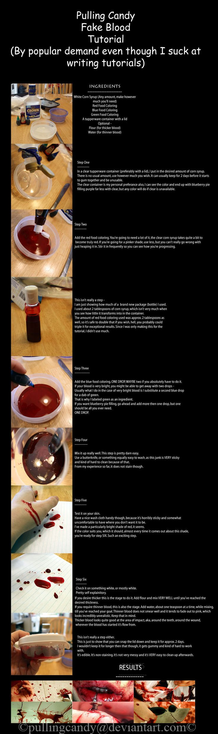 Fake blood tutorial