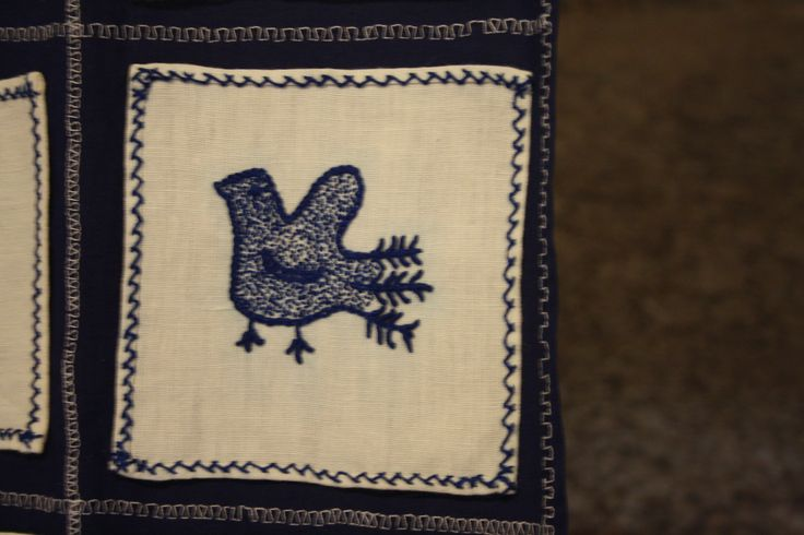 The bird is a very common element on nothern portuguese embroidery ( minho's embroidery). Birds use to carry your lovers letter.