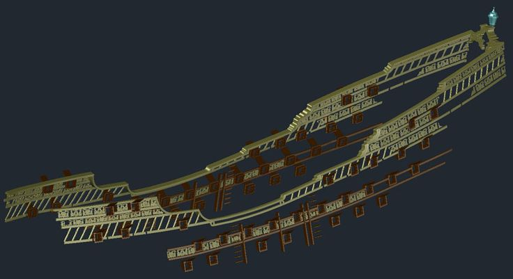 the decorated railings on the Spanish Man o War   Black ...