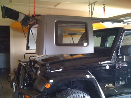 Cheap and Easy Hard Top Hoist - JKowners.com : Jeep Wrangler JK Forum This can be done in about 30 mins, it looks like. VERY easy and cheap!