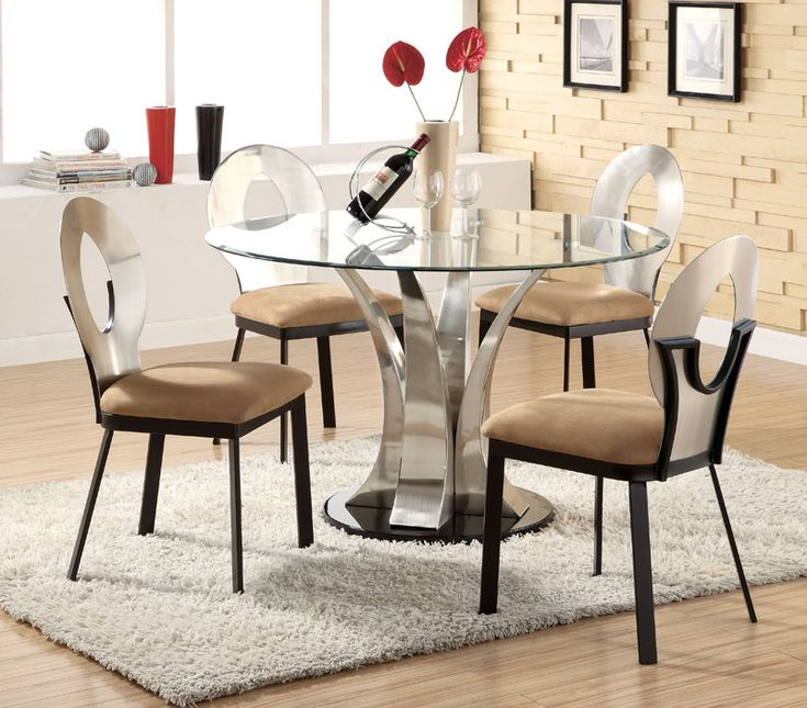 Round Glass Dining Room Table For 4 Seaters