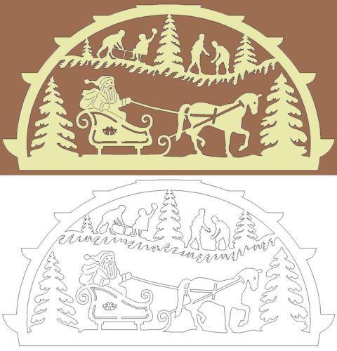 Schwibbogen-Vorlage-Weihnachtsfreude