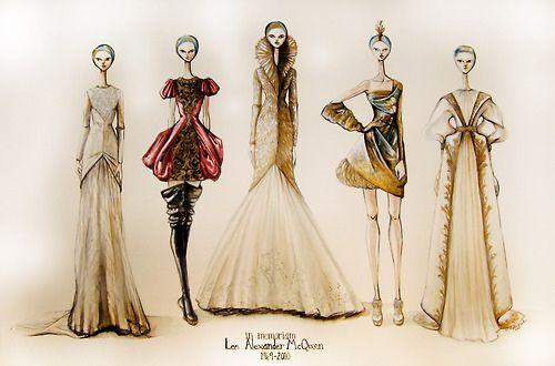 Illustration: Alexander McQueen: Alexander Mcqueen, Fashion Sketches, Mcqueen Fashion, Alexandermcqueen, Fashion Design, Fashion Art, Fashion Illustrations, Drawing