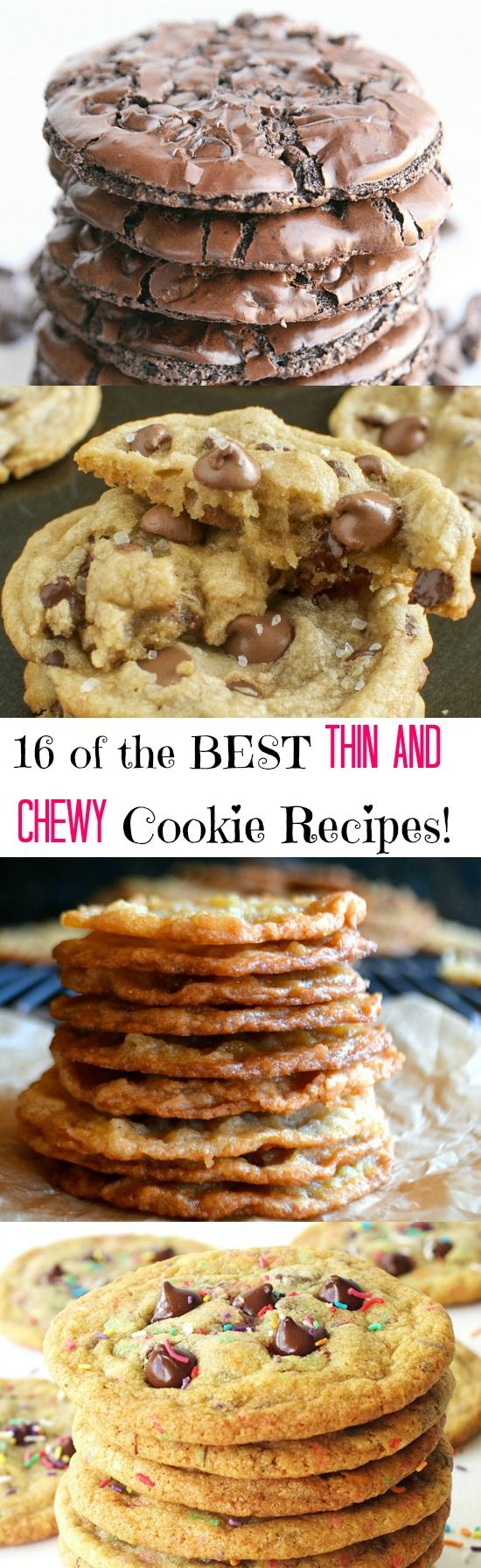 The Best Thin and Chewy Cookies for Your Cookie Jar!!