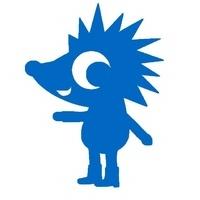 Igel, blau, Velours zum Aufbügeln - PeppAuf.de