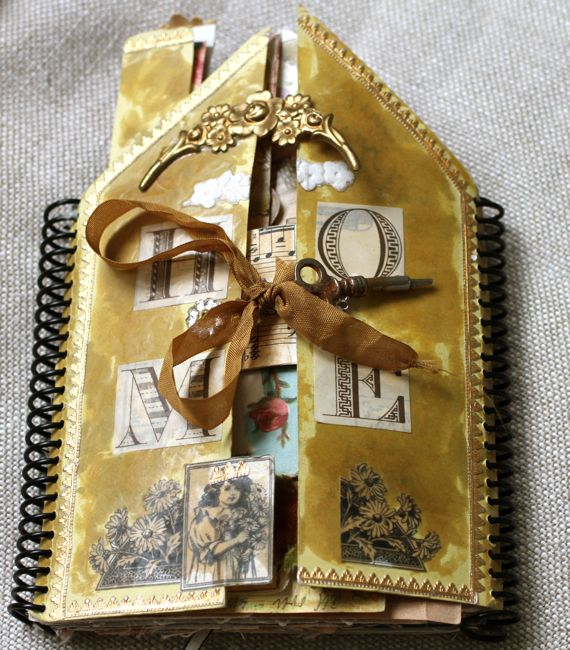 Pam Garrison's Art and Journals... This is her House Book... See more close up details on her fabulous blog.