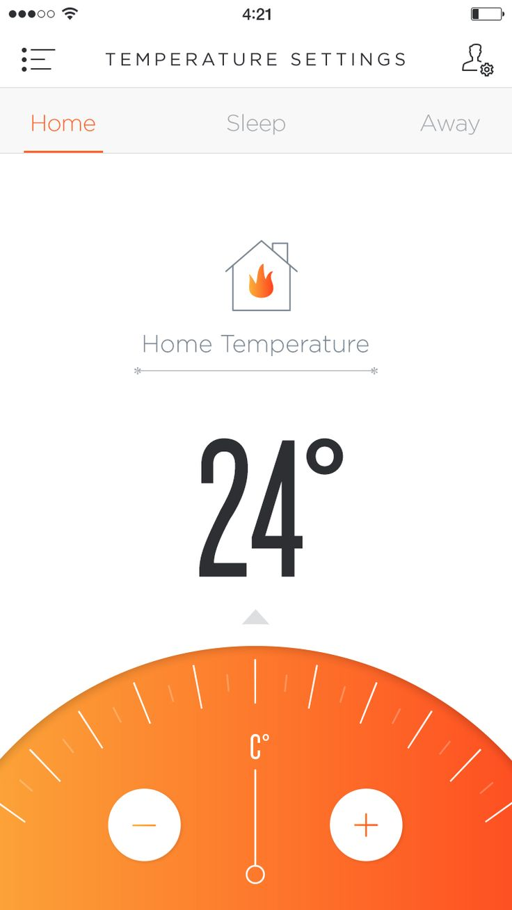 Phone Temperature App UI concept