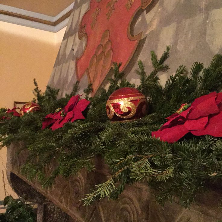 Christmas decorations at Hotel Bramante