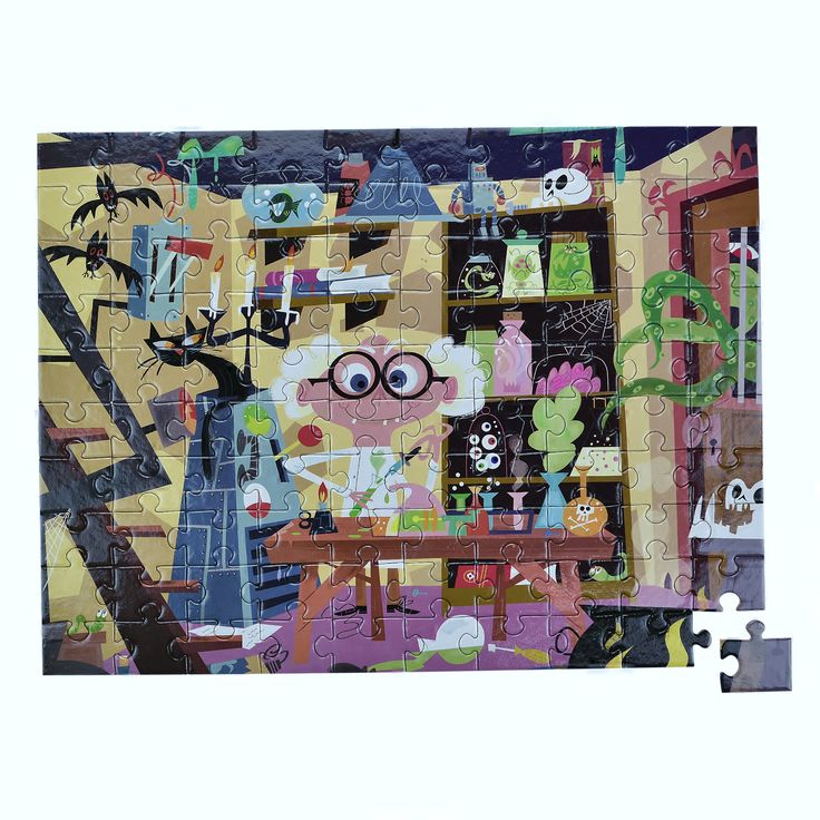 The crazy scientist!!! Love these illustrations, they make gorgeous puzzles!