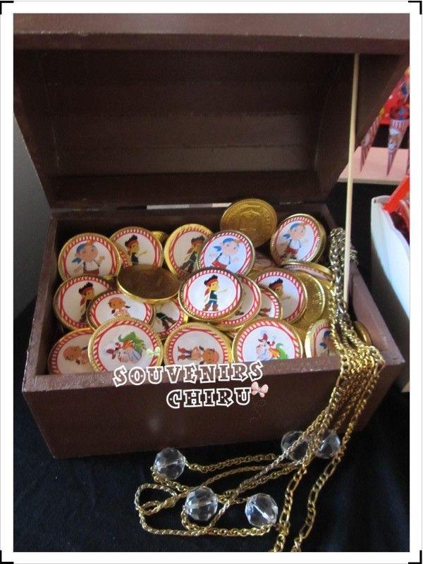 Monedas de chocolate personalizadas, Jake y los piratas. Candy Bar Jake.