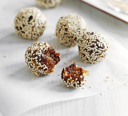 Dried fruit enery nuggets. Give your energy levels a real boost with these nutritionally-balanced healthy fruit bites.