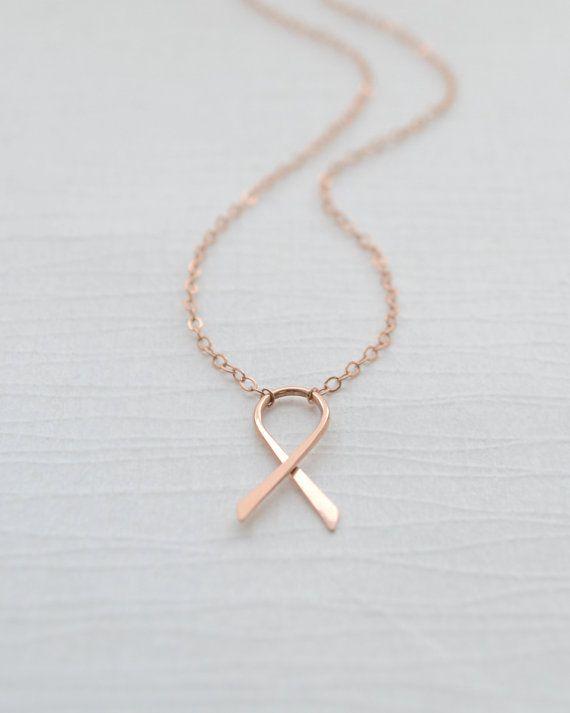 Breast Cancer de sensibilisation  collier ruban par OliveYewJewels