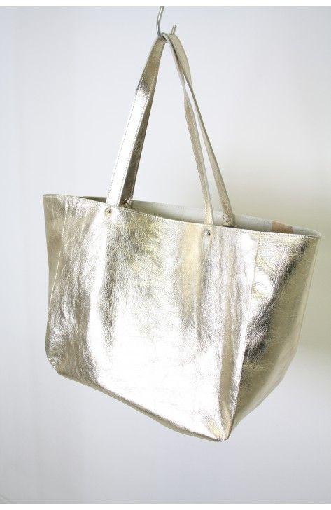 Shopper Gold, one off, 100% handmade in the Netherlands, www.bruijs.com