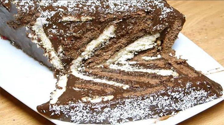 Dacă doriți să vă bucurați familia cu un desert original, atunci rețeta de mai jos este numai bună. Vă prezentăm rețeta unui tort delicios din biscuiți, cu cremă fină și foarte aromată. Acesta se prepară uimitor de simplu și rapid, fiind perfect atât pentru cina de familie, cât și pentru masa de sărbătoare. Descoperiți cea mai simplă rețetă a unui tort deosebit de savuros. INGREDIENTE -185 g de biscuiți albi -1.5 pahar de zahăr -4 pahare de lapte -185 g de biscuiți cu cacao -2/3 pahar de...