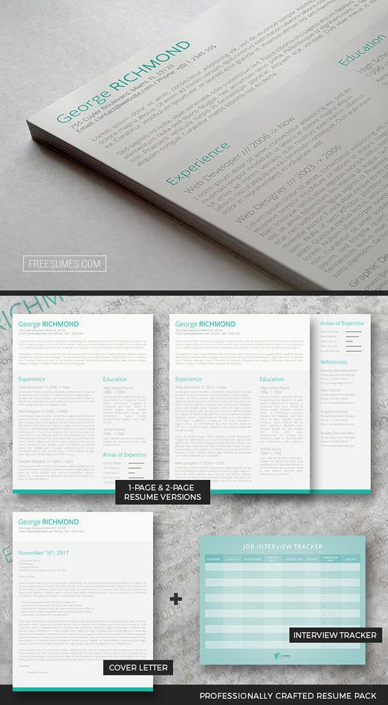 monster resume format%0A Clever CV Template Pack
