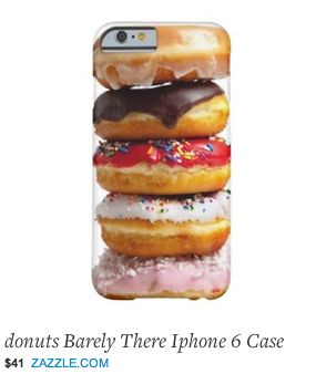 """Fred: I love doughnuts but I feel this is another example of the """"My phone is a refrigerator"""" mindset. In fact a phone says a lot about a person. This type of bling says what? Jenny: You're Homer Simpson. It's an image of food but what it says is """"Help me"""". Which if I ever met the person with this phone I would. I'd give them quality high level bling and say put down the donut case and step away."""