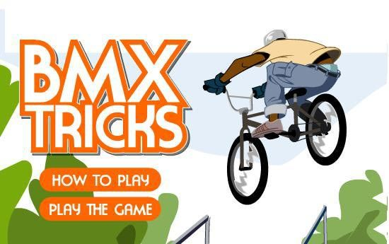 BMX Tricks – Play for Free  Game Instructions: F – Pedal. A – Brake. Up / Down Arrows – Turn. Spacebar – Crouch / Jump. Left / Right Arrows – Rotate in air. D – Tailwhip. S – Superman.