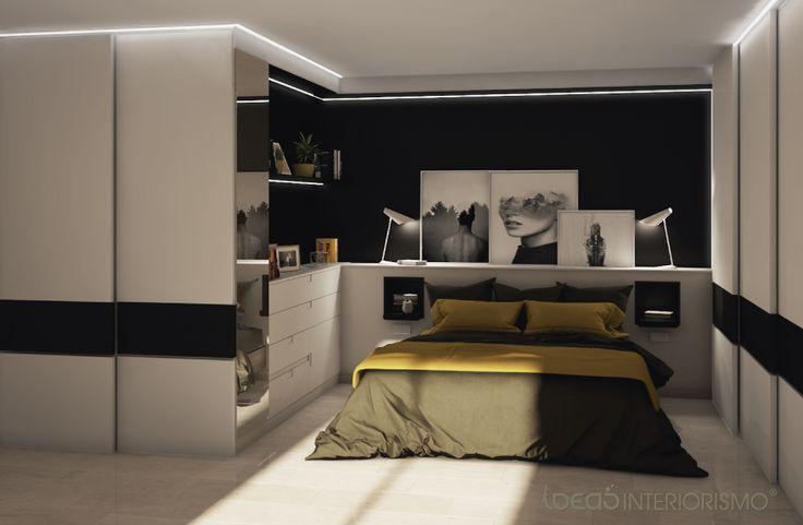 Decoraci n de un sal n comedor y un dormitorio por el - Interiorismo valencia ...