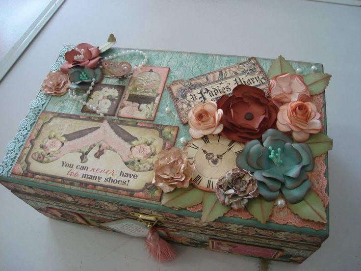 caixa vintage | maria helena dos santos siqueira | Elo7