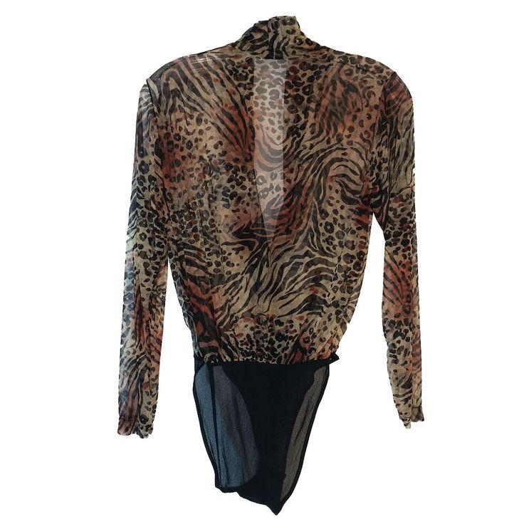 COSABELLA - Brown & Black, Animal Print, Body Suit - Size XS (EB-061617-02)