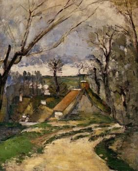 Paul Cezanne | The Cottages of Auvers, 1872-73 | Private collection | The Athenaeum