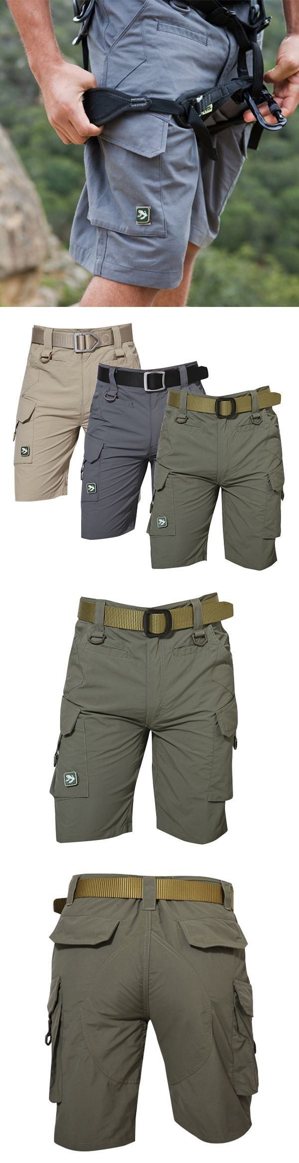 US$36.56 (47% OFF) Mens Outdoor Quick-drying TAD Tactical Shorts / Multi-pocket Sport Shorts