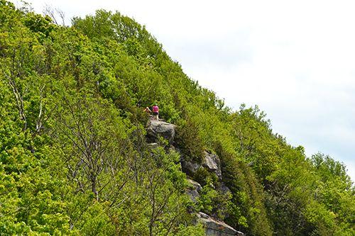 Falaise du mont Pisgah Crédit photo M.-C. Pelletier