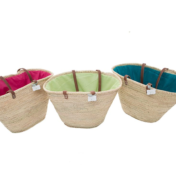 Square Emma New double lined Baskets x3