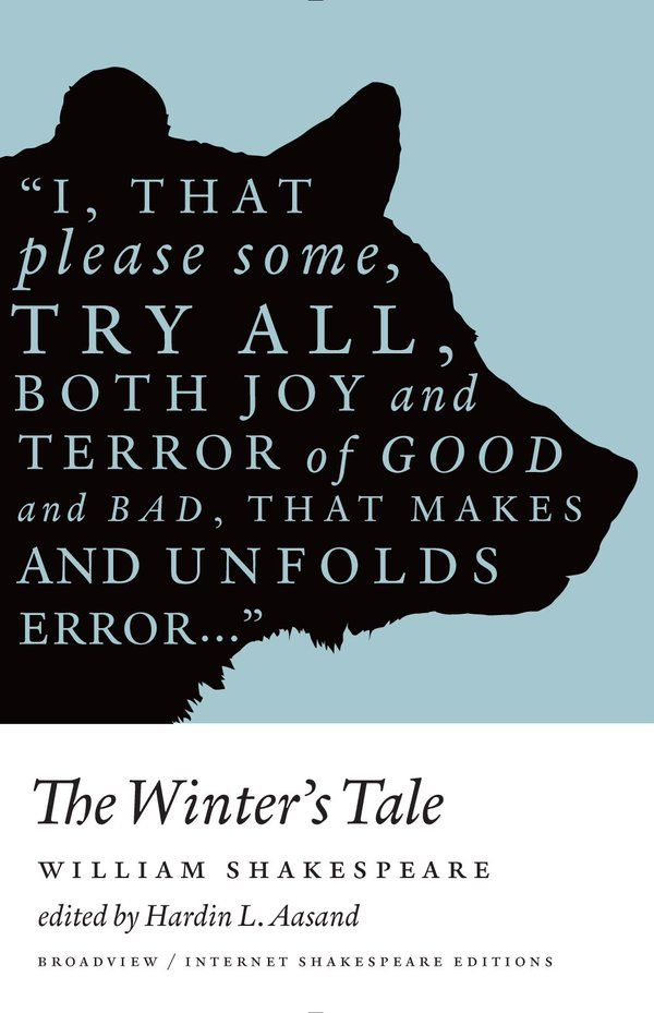 #Shakespeare The Winter's Tale (Broadview, 2014) book cover. Design: Michel Vrana. via @wayneford