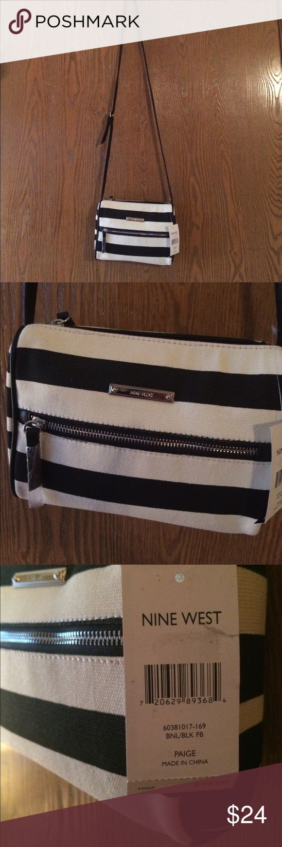 NWT black and iff white Nine west purse NWT black and iff white Nine west purse Nine West Bags