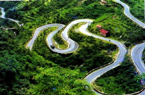 """The """"hill"""" road from Dehra Dun to Mussoorie, India - a nail-biter, but SO worth it!"""